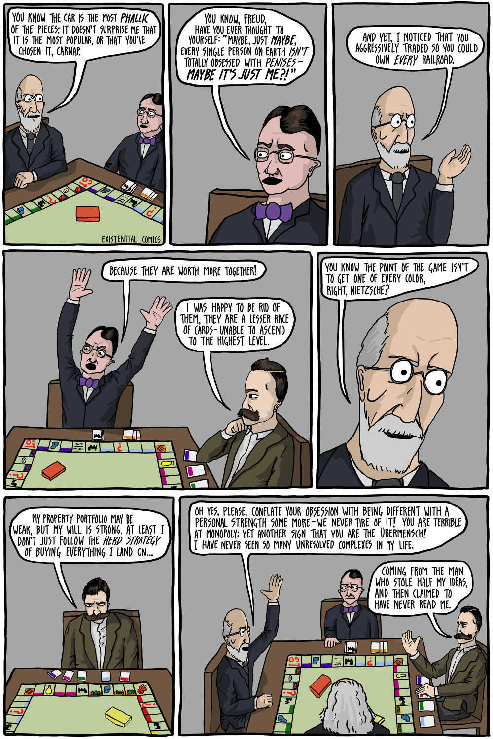 """The Germans Play Monopoly"" by existentialcomics.com"