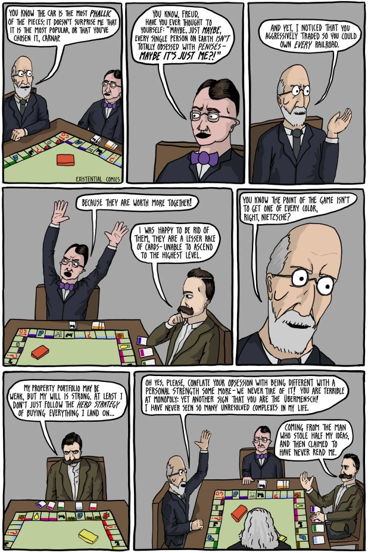 """""""The Germans Play Monopoly"""" by existentialcomics.com"""