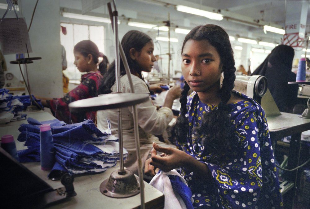 A sweatshop in Bangladesh (photo by Saybrook Productions).