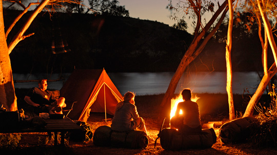 A camping trip signifies something more than just what people like to do for fun. It is a social arrangement where people temporarily have very different moral outlooks on property.